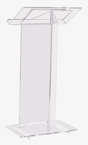 安い美しい透明アクリル表彰台説教壇書見台プラスチック表彰台 -