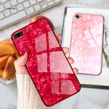 For Iphone X 8plus 7 6s 6 Glass Shell Mobile Phone Case Soft TPU+Glass Anti-knock Apple Ipone 6plus Girls
