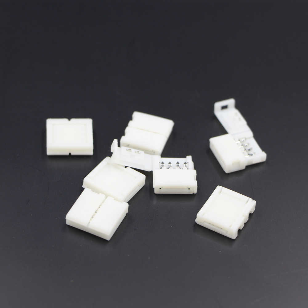 Светодиодный полосы Бесплатная припоя Разъем 10 мм 8 мм 2 pin 4 pin для 5050 5630 5730 3528 Одноцветный RGB светодиодный ленты 5 шт./лот