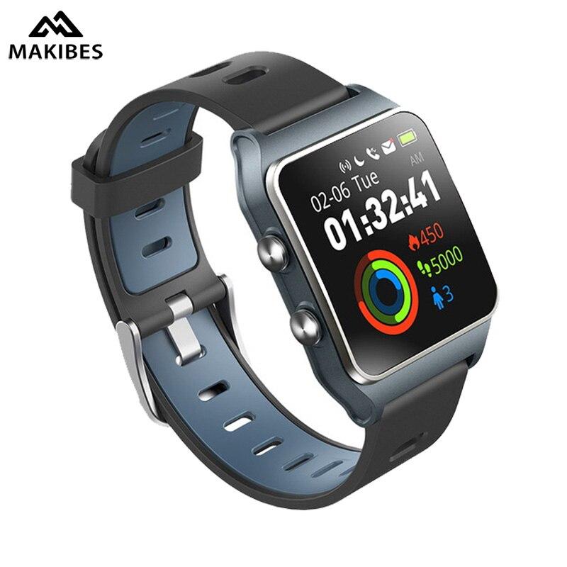 Makibes BR3 GPS 17 tipos esportes Banda Inteligente Pulseira Bluetooth 4.2 Freqüência Cardíaca Strava IP68 rastreador De Fitness Homens relógios À Prova D' Água