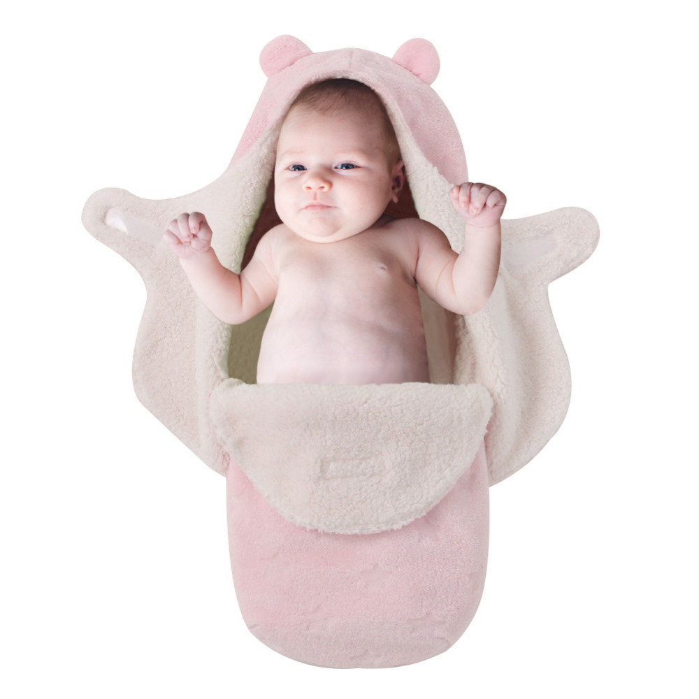 Baby Supplies Ultra Fluffy for Comfortably Keeping Babies Snug & Protected Anti-kicking Warm Preserved Swaddle Blanket
