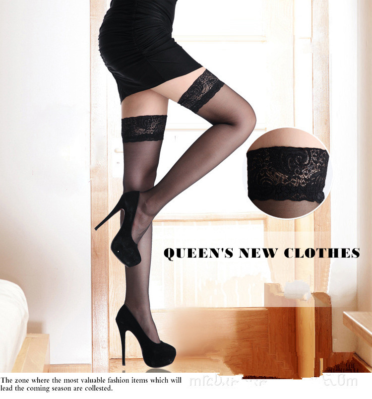 Fashion Women's Tights Japan Beauty Cute <font><b>Sexy</b></font> Stocking Lace Fishnet Panty hose Women's Knee High Non-slip Girl Stockings image