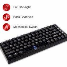 Drevo Gramr 84 Anahtar Mekanik Klavye Arkadan Aydınlatmalı Edition Tenkeyless Siyah Kablolu Oyun Klavyesi
