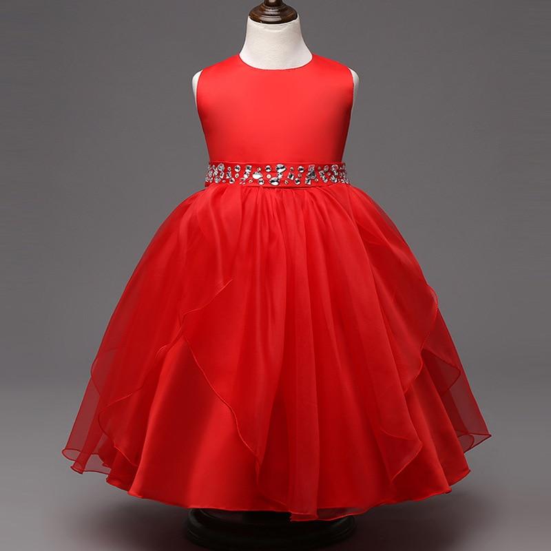 02ca08867 Europea de alto grado con cuentas Niñas princesa boda del vestido de la  muchacha de flor los niños toda la ropa y los accesorios