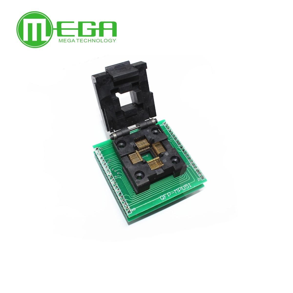 CHIP PROGRAMMER SOCKET TQFP44 QFP44/ PQFP44 TO DIP40 adapter socket support MPU-51 chipCHIP PROGRAMMER SOCKET TQFP44 QFP44/ PQFP44 TO DIP40 adapter socket support MPU-51 chip