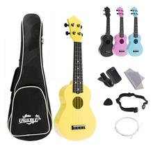 4 Strings 21 Inch Ukelele Full Kits Acoustic Colorful Hawaii Guitar Guitarra Instrument for Kids and Music Beginner
