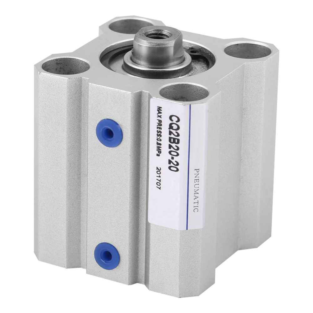 1Pcs Compact Air Cylinder Stainless Steel Dual Acting Air Pneumatic Cylinder Stoke 20mm Cylinder Diameter 20mm New
