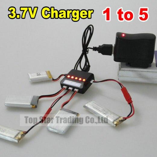 3.7 В USB быстрый баланс зарядное 1 делится на 5 с сигнальная лампа поддерживает множество <font><b>RC</b></font> вертолеты Syma X5C WL V931 V911 MJX F47 U816