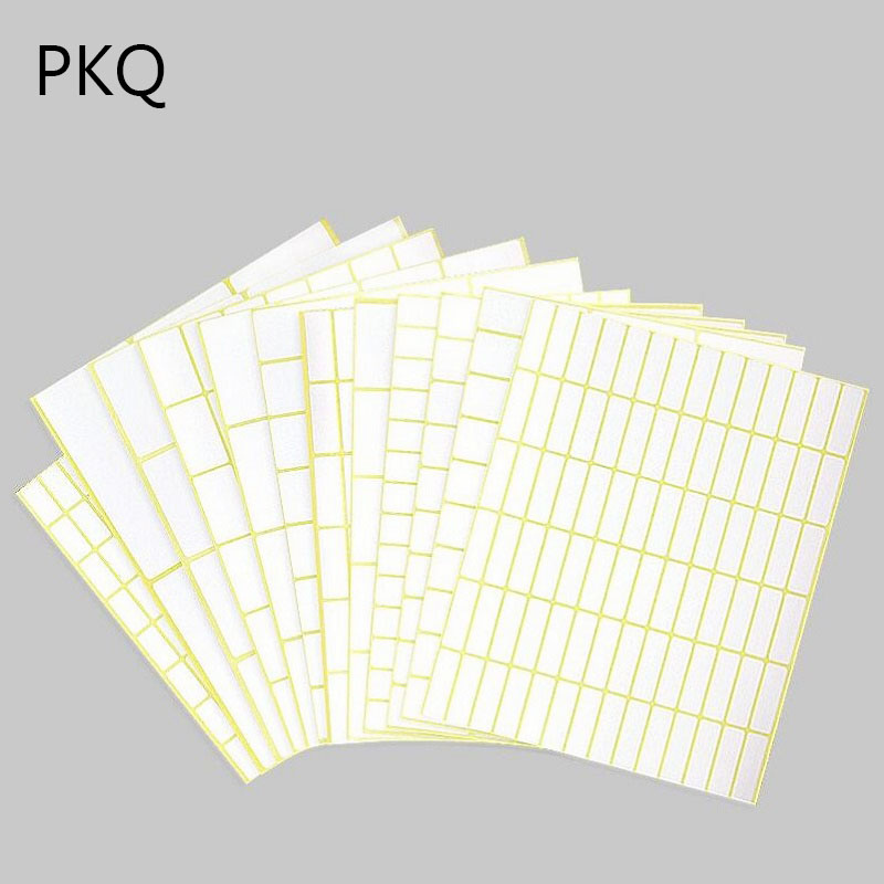 Different 35 Sizes White Small Sticker Labels Price Stickers Tags Square Blank Self Adhesive Stickers Great for Inkjet Printers sticker