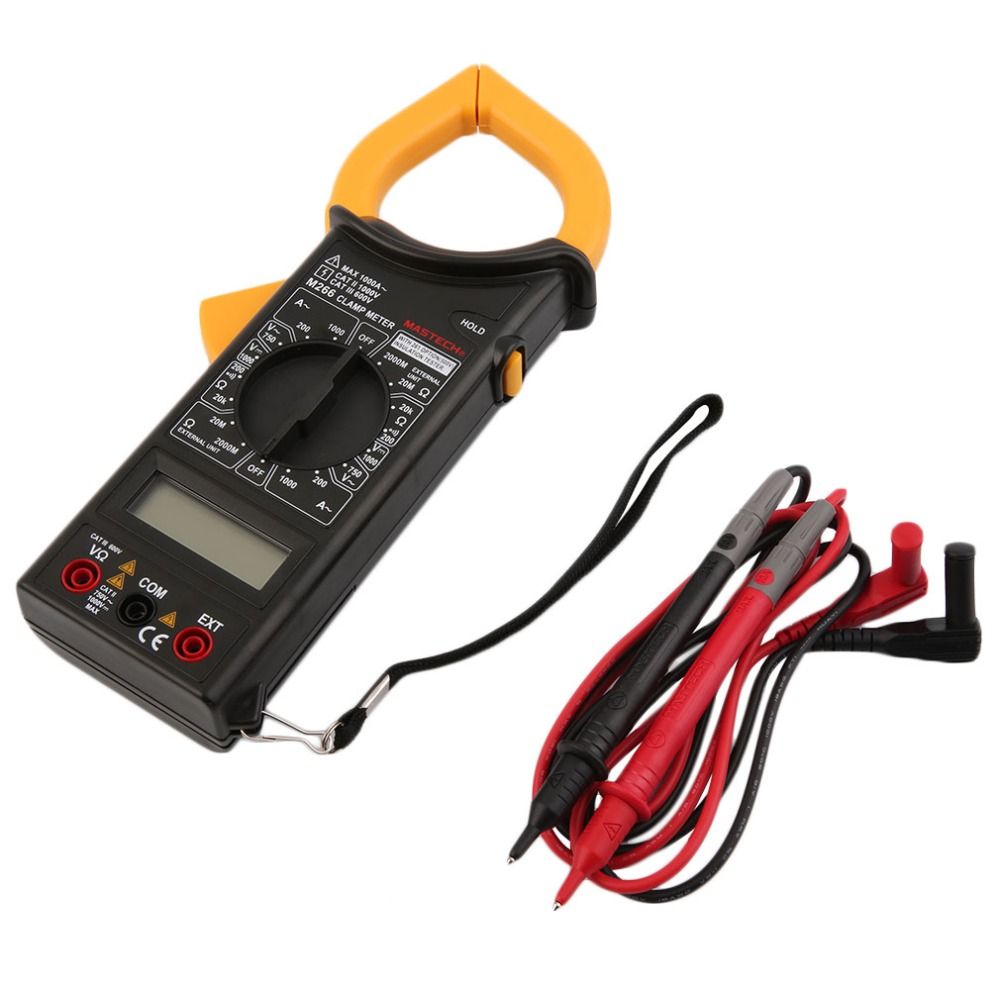 1Pc MASTECH M266 Voltage Current Resistance Temperature Digital Clamp Meter Worldwide Store  цены