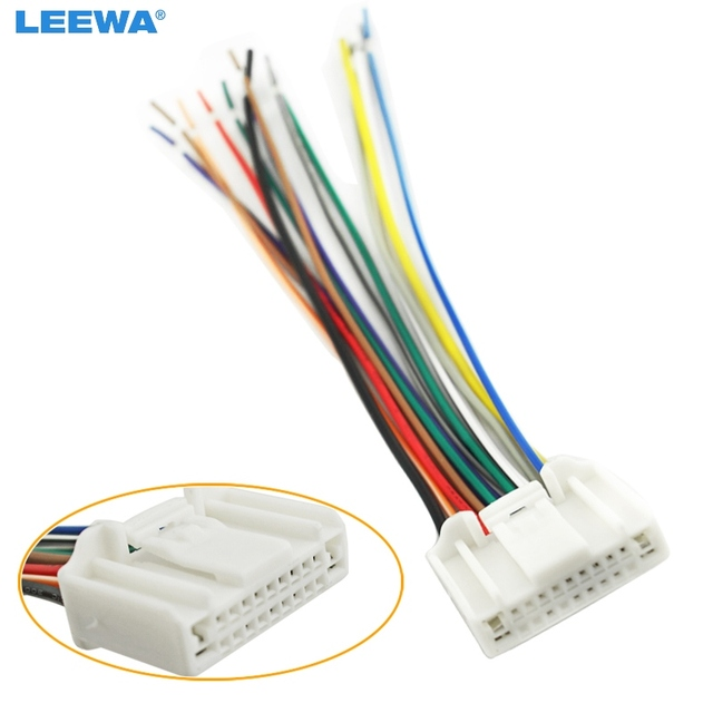 us $1 87 28% off leewa car audio stereo wiring harness adapter plug for nissan subaru infiniti oem factory radio cd ca3995 in cables, adapters \u0026 Aftermarket Radio Wiring