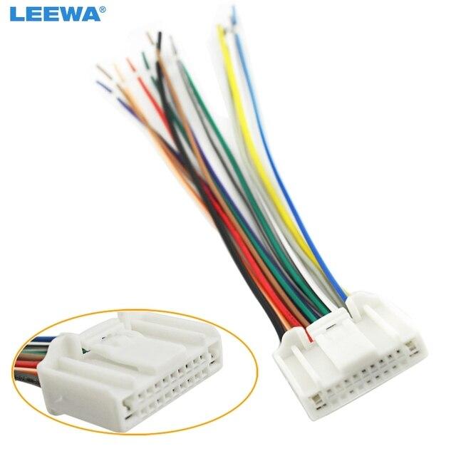 LEEWA Car Audio Stereo Wiring Harness Adapter Plug For Nissan/Subaru