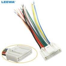 leewa car audio stereo wiring harness adapter plug for nissan/subaru/ infiniti oem factory radio cd #ca3995