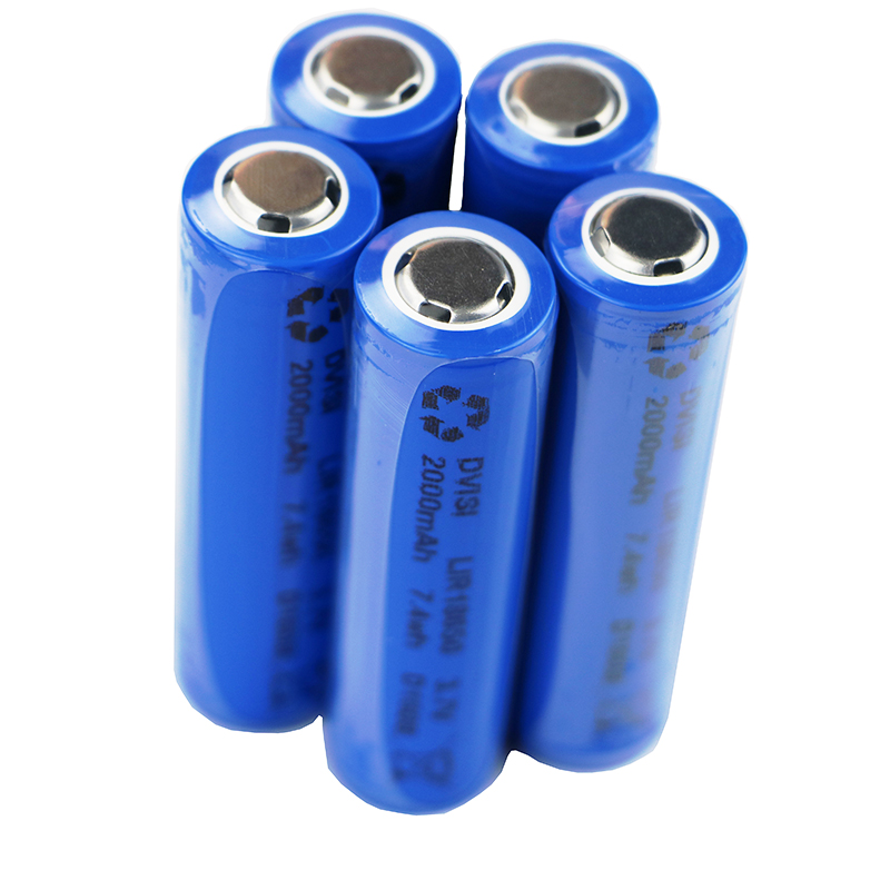 10Pcs/lot 18650 3.7V 2000mAh Rechargeable Battery Blue Full Capcity for the Assembly Mobile Power, Notebook Batteries