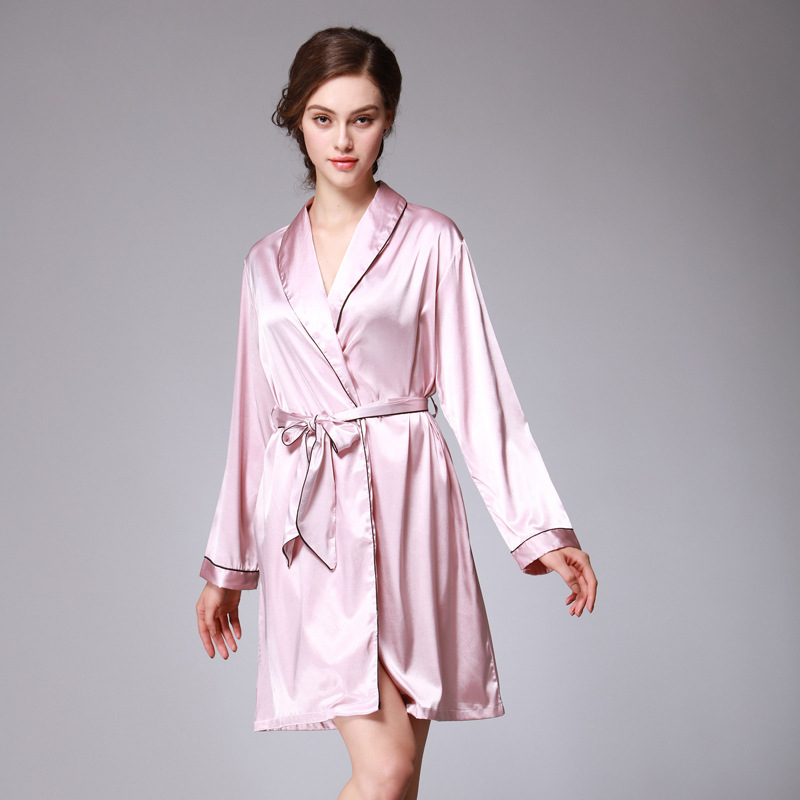 Kimono Robe bridesmaid robes Muslin Bathrobe women Pajamas Silk gowns women home robes clothing clothes Terry bathrobe peignoir ...