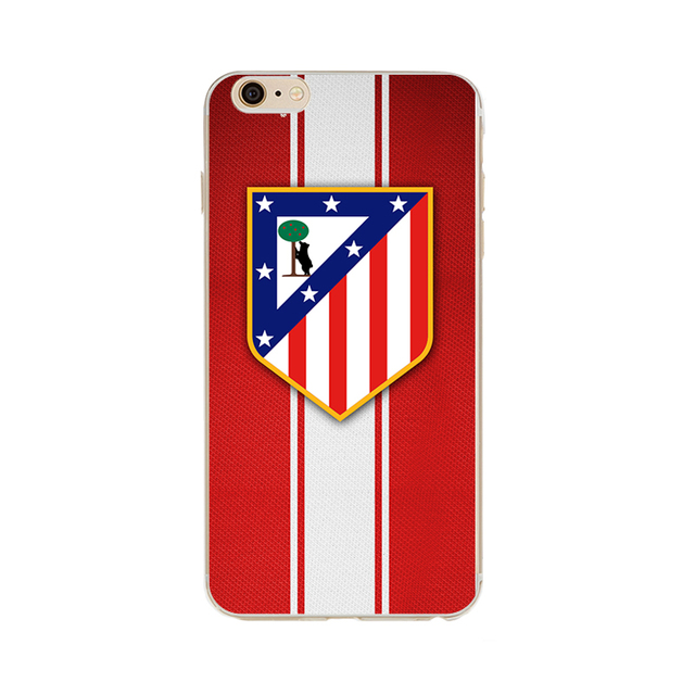Phone case atletico madrid logo Clear silicon soft TPU fundas case cover for Apple iPhone 5C SE 5 5S 6 6S 6Plus 7 7Plus