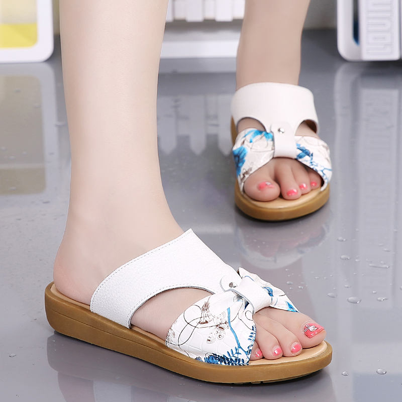 Women Summer Slippers Wedges Sandals Platform Beach Slippers Flower Flats Shoes Sapato Feminino phyanic 2017 gladiator sandals gold silver shoes woman summer platform wedges glitters creepers casual women shoes phy3323