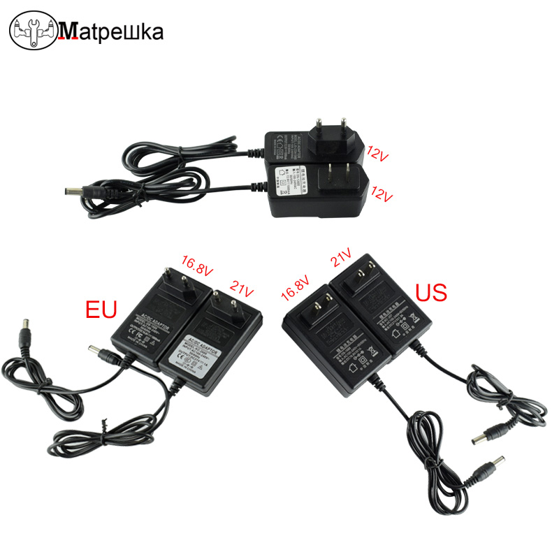 12V 16.8v 21v  Electric Drill Screwdriver Li-ion Battery  Charger Cordless Dril Electric Screwdriver  Charger replacement li ion battery charger power tools lithium ion battery charger for milwaukee m12 m18 electric screwdriver ac110 230v