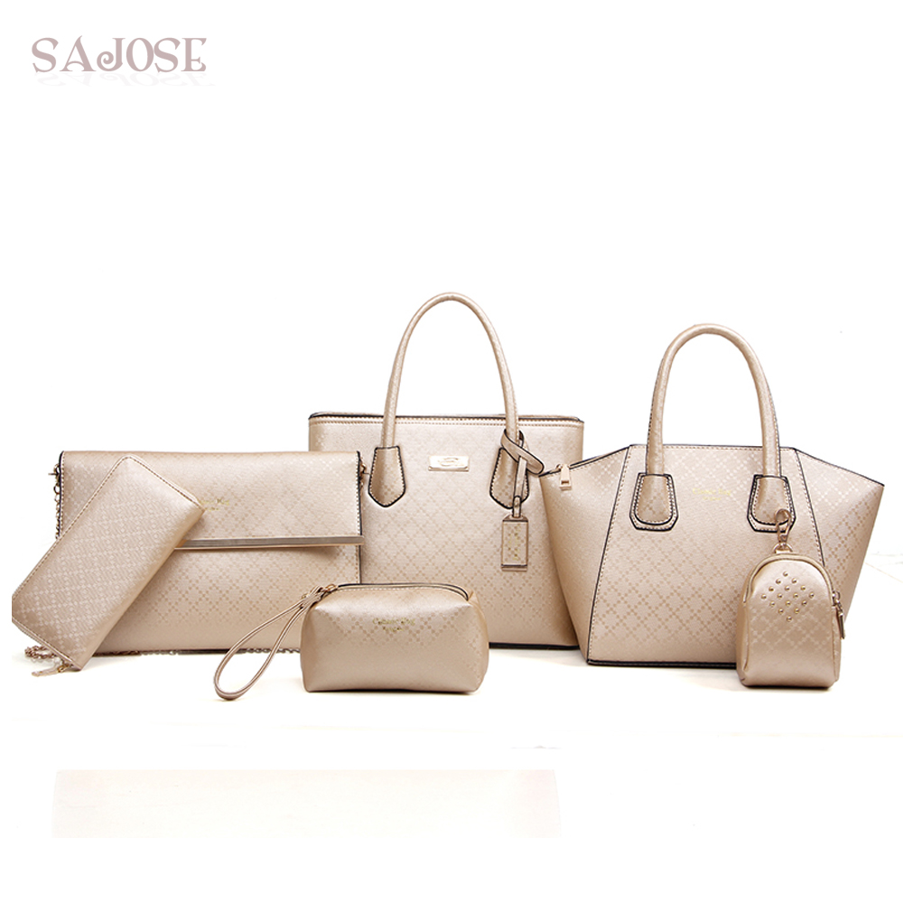 Women Leather Handbags Composite 4 Sets Famous Brands High Quality Ladies Crssbody Shoulder Bags Female Tote Bag Drop Shipping g41 wonderful pattern european ladies shoes and bags sets with stone high quality women high heel with bag sets free shipping