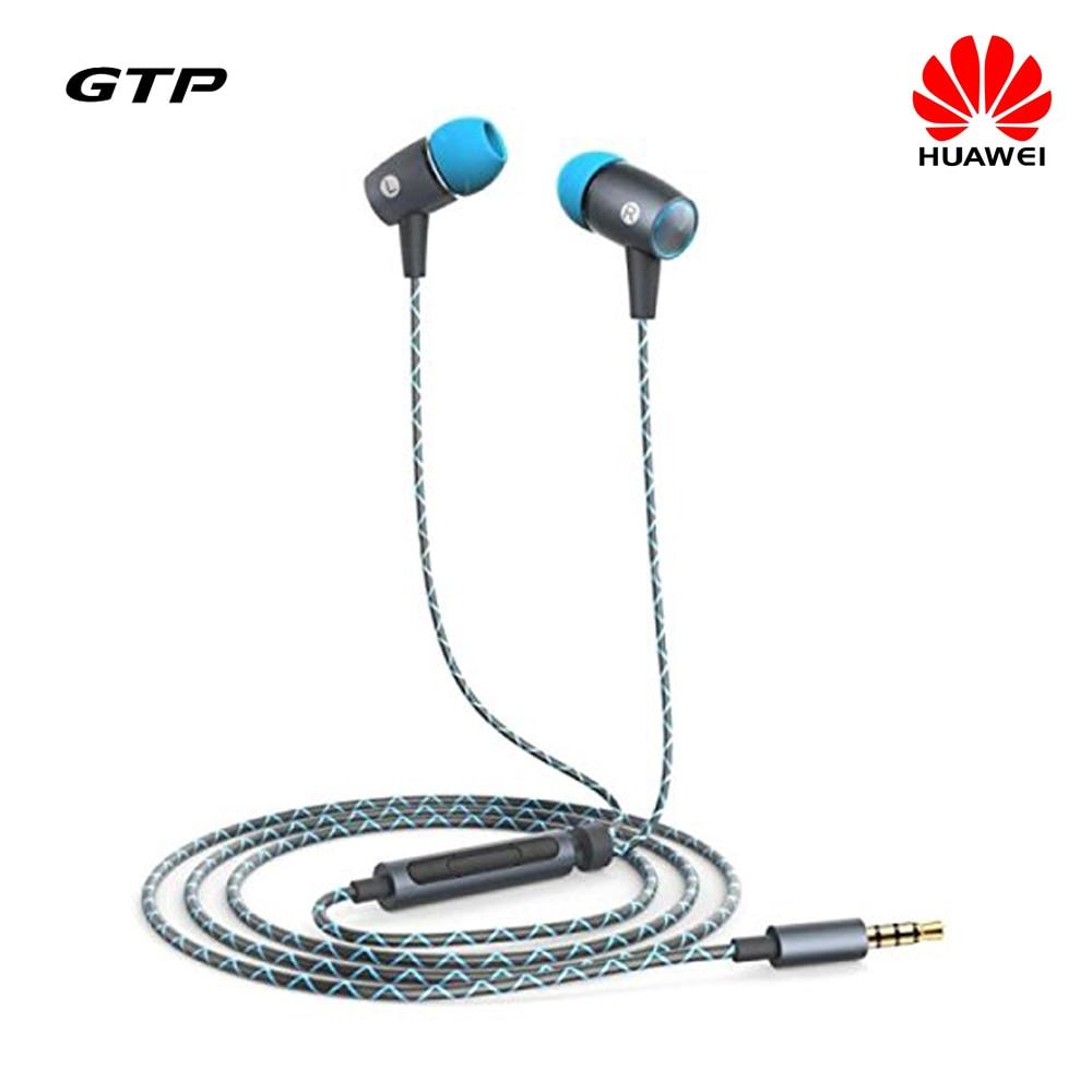 Original Huawei AM12 Plus Stereo 3.5mm Jack In Ear Mobile Phone Mic Earphone for Samsung S6 Honor 6 3X 3C P7 Mate 7 P6
