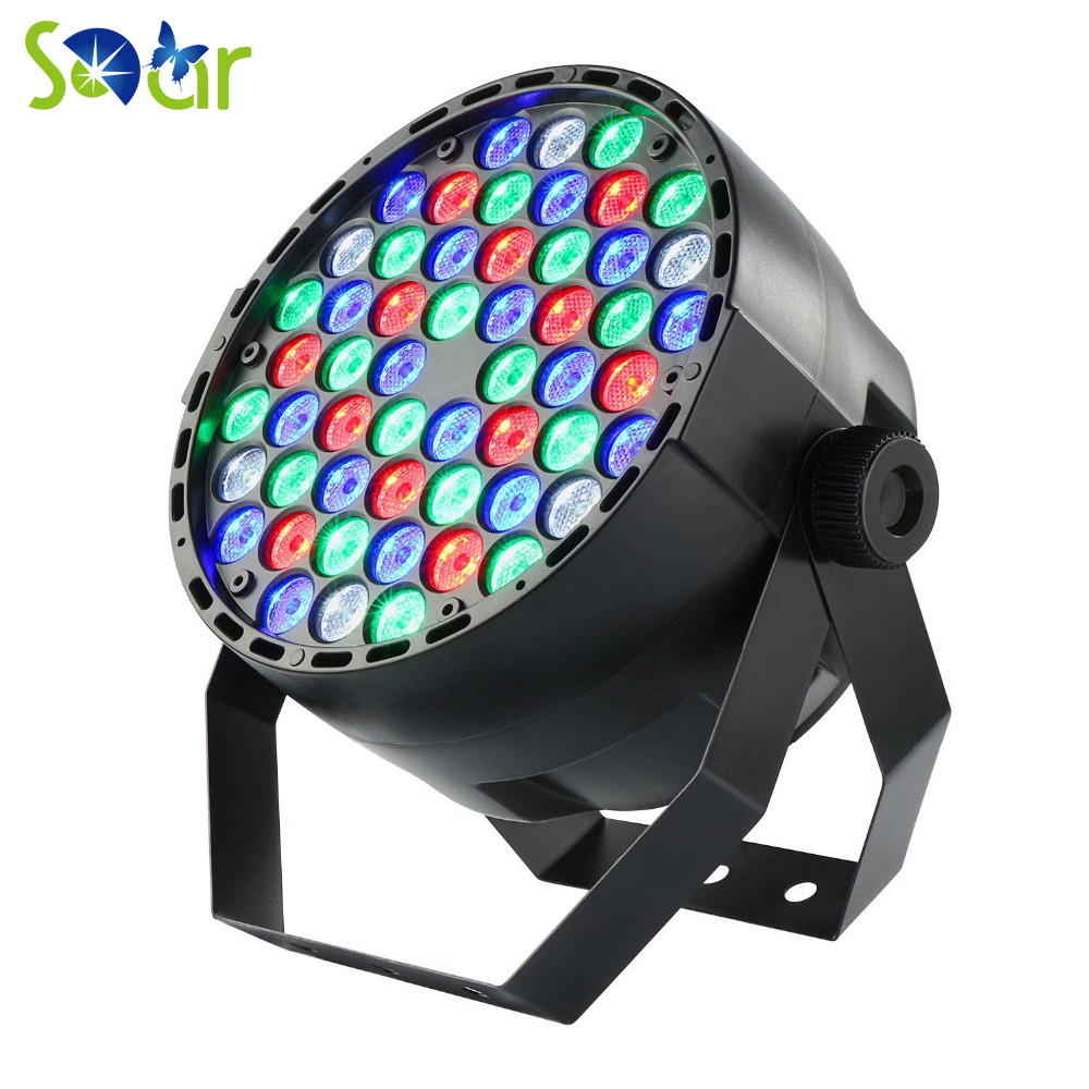 Par64 LED 54x1w DMX512 RGBW Stage Party Light for Dj Bar Wedding Party Events Club Pub Home Party Ballroom Music Stage Lighting 1 pc lighting par led dj par 54 x 3w led light 8ch rgbw par 64 dmx512 dj stage party show birthday decoration p20