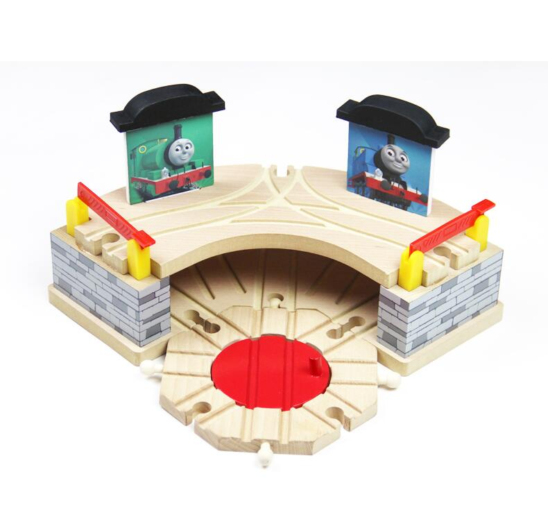 Thomas and Friends --Timmouth Room Garage Wood Track Thomas Train Slot Rail Railway Accessories Original Toy For Kids Gift