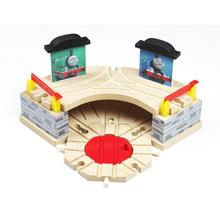Thomas and Friends –Timmouth Room Garage Wood Track Thomas Train Slot Rail Railway Accessories Original Toy For Kids Gift