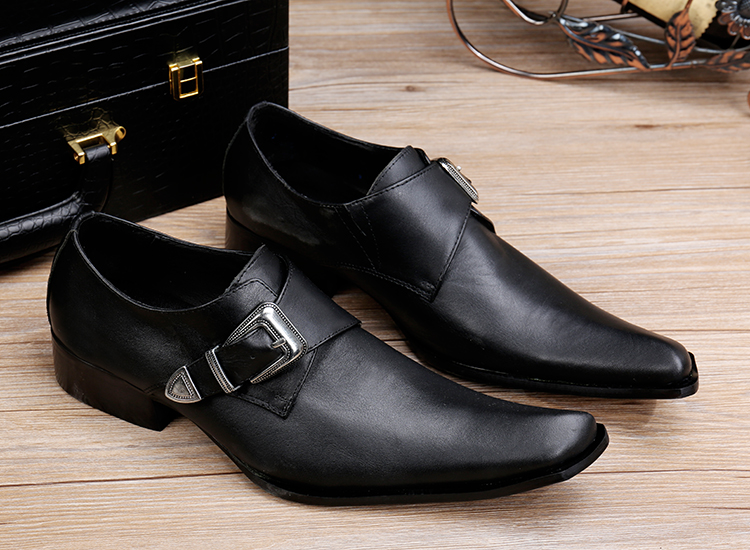 Zapatos Hombre Italian Shoes Men Leather Alligator Shoes For Men Pointed Toe Black Genuine Leather Dress Wedding Shoes Flats in Formal Shoes from Shoes