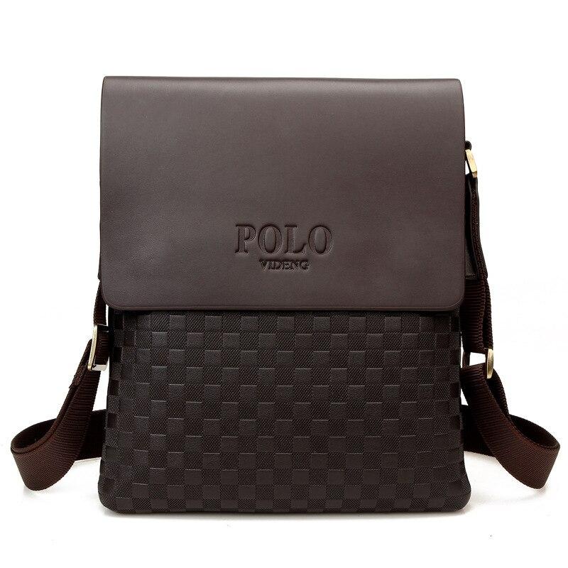 New Brand Designer Business Man's Small Messenger Bags Polo Fashion Male Single Shoulder Bag Diamond Lattice Cross Body Satchel