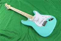 Hot sale surf green st electric guitar.22 frets maple fingberboard. green guitar.real guitarra picture wholesale factory direct