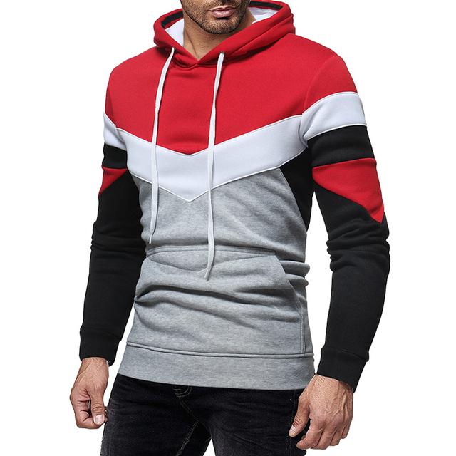 GustOmerD New Fashion Men Brand Casual Men Sweatshirt 3 color Patchwork Hoodie Male Hoodies Long Sleeve Hoody Man Clothing