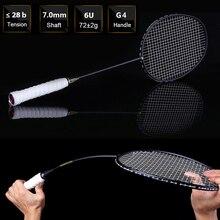 1 Pair Ultralight 6U 72g Strung Badminton Racket Professional Carbon Badminton Racquet Set 22 28 LBS free Grips and Wristband