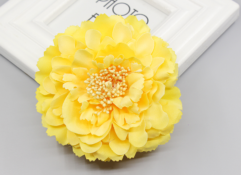 Free shipping! 4 colors multi color big sunflower Blooming Fabric Flower Brooch Hair Clip Boutique Hair Accessories  2016 trendy fabric blooming peony flower corsage brooch woman hair decorations