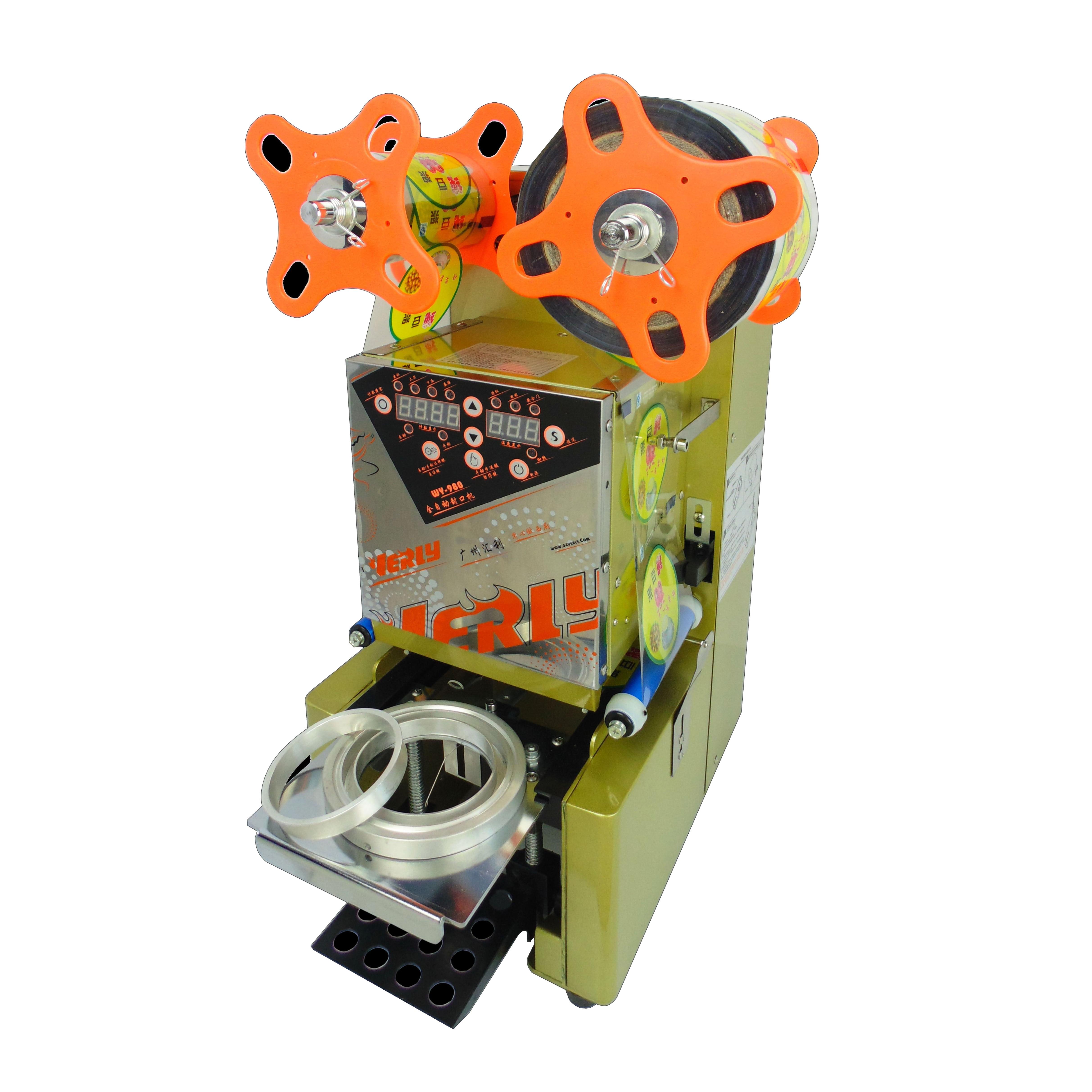 95mm 90mm Semi Automatic plastic cup sealing sealer machine Digital display cup sealer in Vacuum Food Sealers from Home Appliances