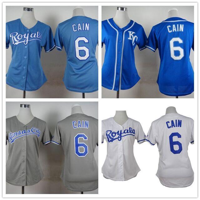 low priced f2ec9 dd914 6 Lorenzo Cain jersey women authentic Kansas Royals jersey ...