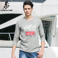 Pioneer Camp brand clothing T shirt men top quality 2017 Spring Autumn Men Long Sleeve Tshirt male Long-Sleeved T-Shirt  3