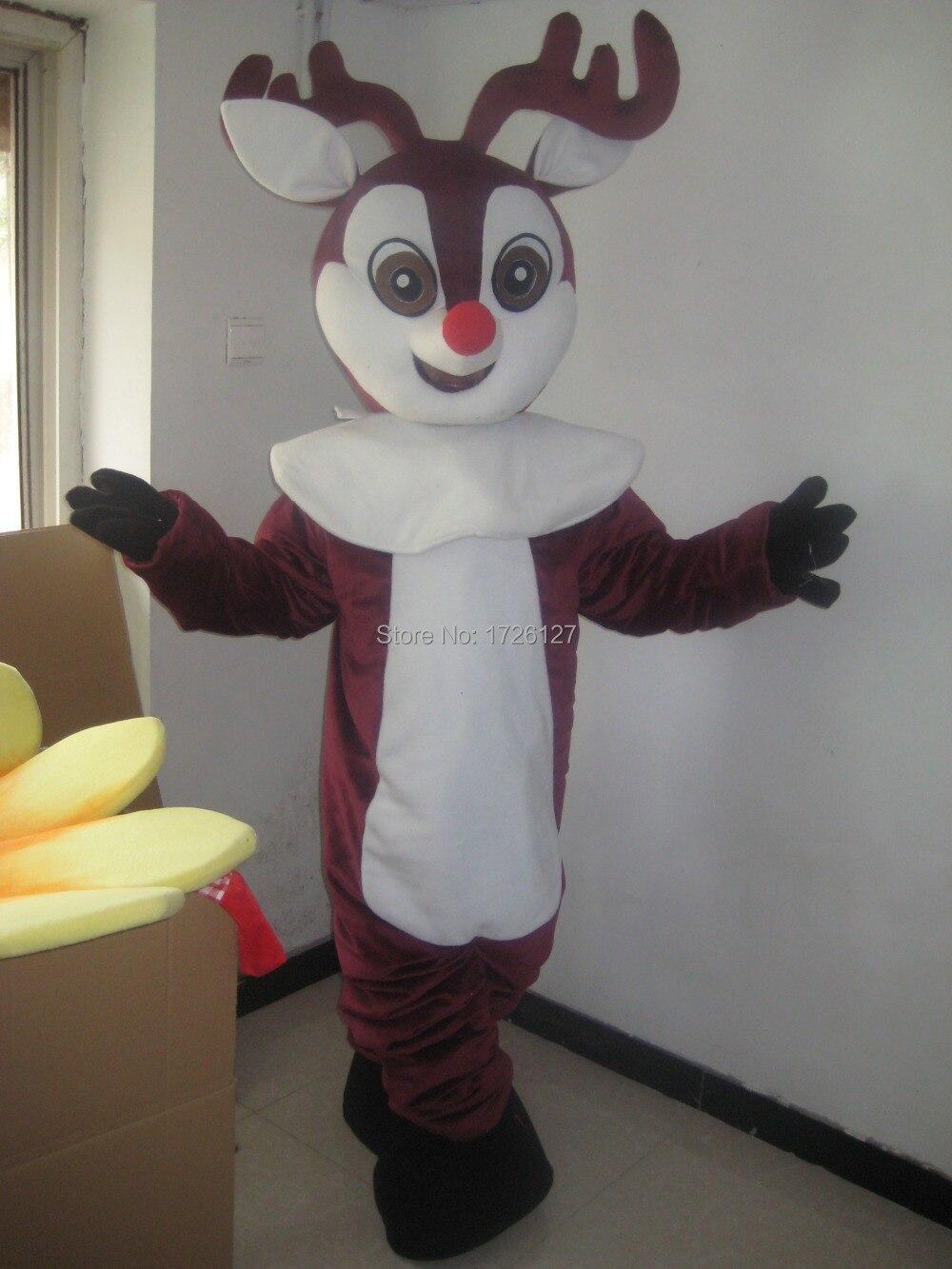 mascot Reindeer Moose red nose Deer Mascot costume custom fancy costume anime cosplaymascotte fancy dress