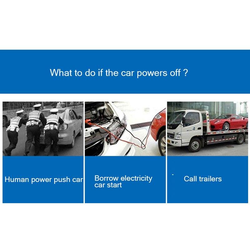 12 V Portable véhicule saut démarreur d'urgence Auto saut Pack alimentation de secours pour batterie externe pour téléphone intelligent Hummer de sécurité - 2