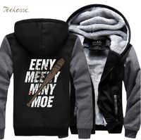 The Walking Dead Eeny Meeny Miny Moe Negan Lucille Zombie Zipper Hoodies Men 2018 Winter Fleece Sweatshirts Thick Jacket Coat