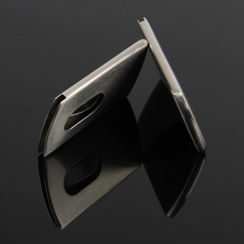 New Business Card Holder Pocket Men Women Vogue Thumb Slide Out ...