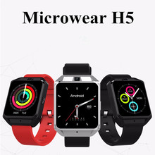 Microwear H5 4G Smartwatch Phone 1.54 inch MTK6737 Quad Core 1.1GHz 1G RAM 8G ROM GPS WiFi Heart Rate / Sleep Monitor
