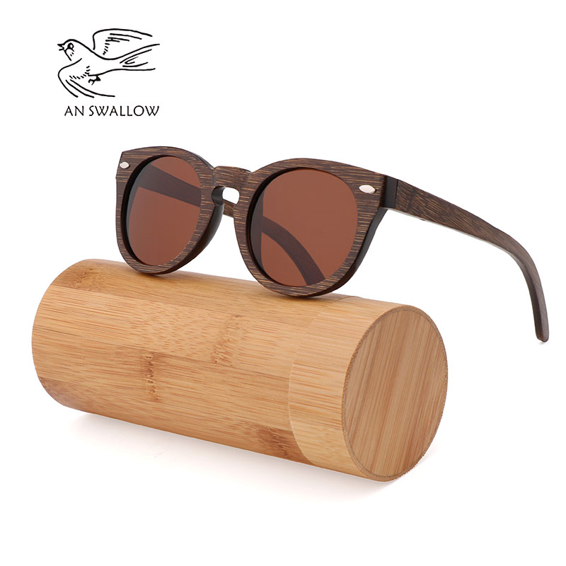 New bamboo wood spectacles square bamboo frame Brown polarizing sunglasses for men and women RETRO SUNGLASSES in 2019 in Men 39 s Sunglasses from Apparel Accessories