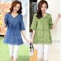 New 2016 summer style cotton blusas vetement  femininas clothes blusa feminina blouses embroidery women shirt summer blouses