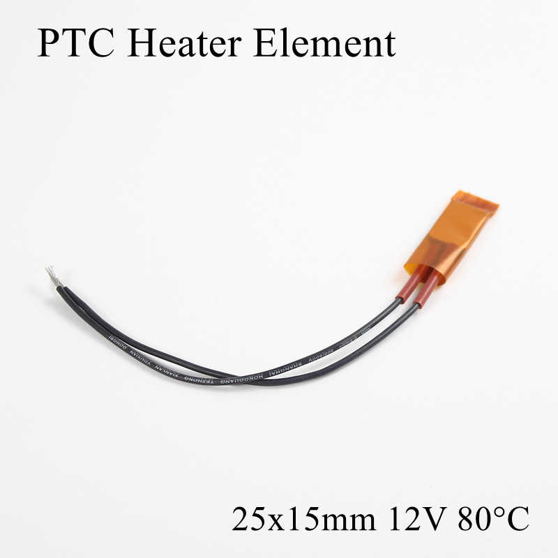 1 teil/los 25x15mm 12 V 80 Grad Celsius PTC Heizung Element Konstante Thermostat Isolierte Thermistor Keramik Air heizung Platte Chip