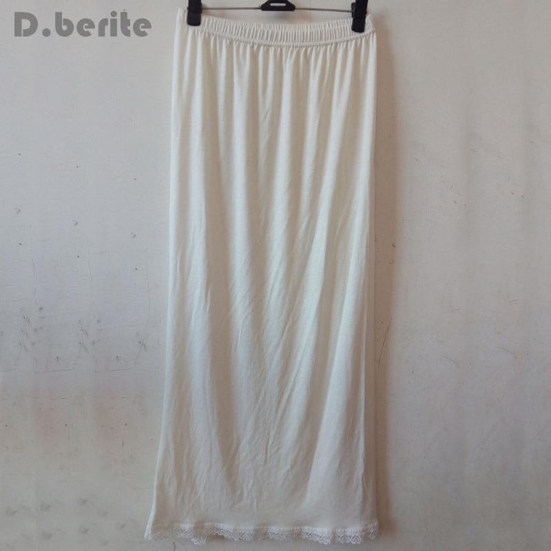 Women Waist Slip Lady Black White Long Underskirt Soft And Comfortable Cotton Length 70cm Petticoat Half Slips New YYY9381