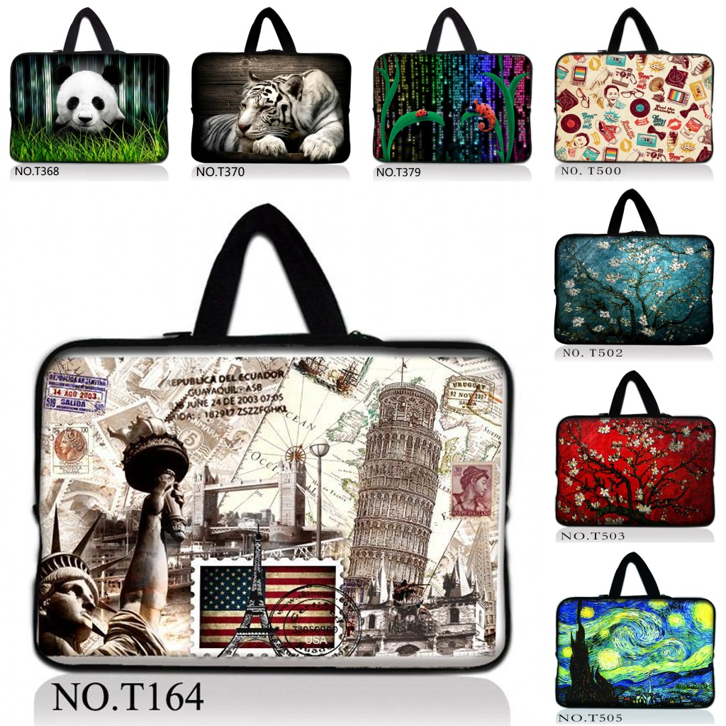 New Fashion Neoprene Zipper Laptop Sleeve Bag Pouch For 10/10.1/10.2/11.6/12/12.1/13/13.3/13.4/15/15.4/15.6 17 17.3 Tablet PC