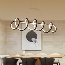 New White/Black Modern LED Pendant Lights Dining room kitchens AC 85-265V Hanging light fixture Luminaire colgante Pendant Lamp