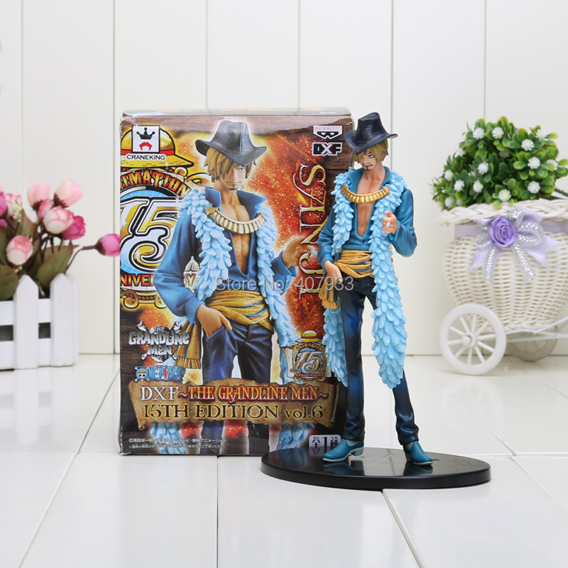 Anime <font><b>One</b></font> <font><b>Piece</b></font> <font><b>Sanji</b></font> 15th Edition vo1.6 PVC Action Figure Collrctible Toy 7