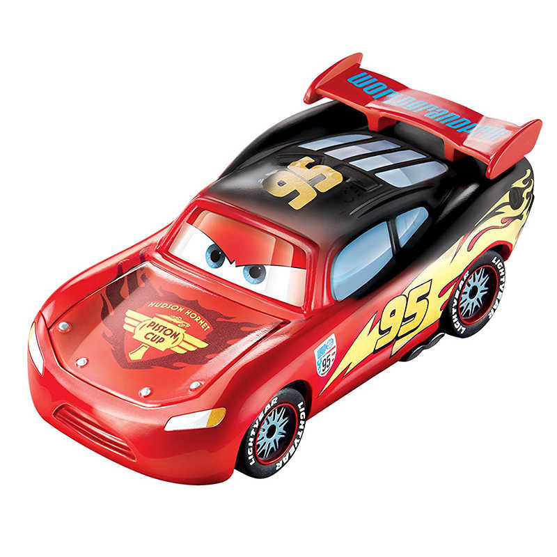 Disney Pixar Cars Color Changers Dinoco Lightning McQueen Vehicle 1:55 Diecast Plastic Model Car Collection Children Toy Present