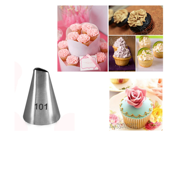 101 Stainless Steel Icing Piping Nozzles Decorating Tips Sugarcraft ...